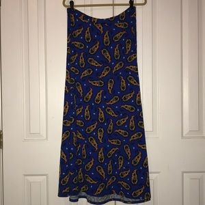 Lularoe Maxi Skirt Royal Blue Medium